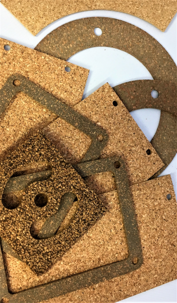 example gaskets made with cork and rubber material