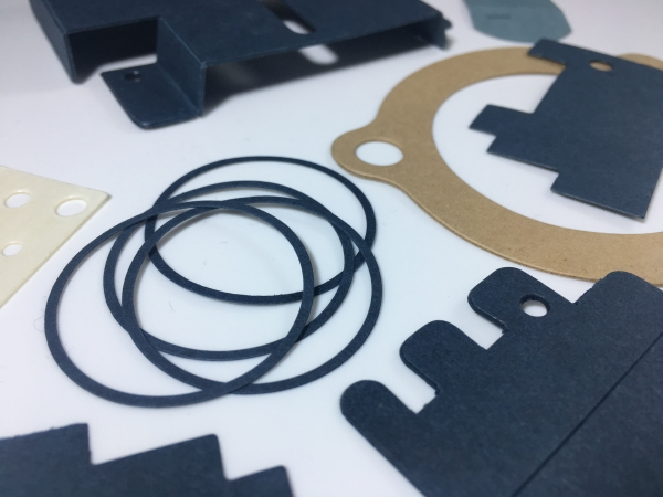 Various electrical gaskets from Accurate Felt & Gasket, in rings and rectangular shapes